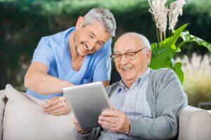 Medicare covers about 35 hours per week of home health service